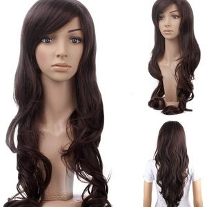 dark brown cosplay wig